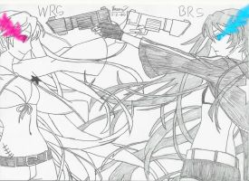 White Rock Shooter VS Black Rock Shooter by keenan905