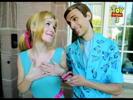 Barbie and Ken Cosplay by oelfe