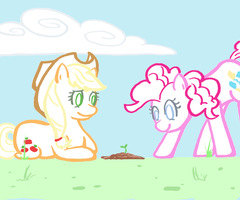Pinkie Pie Watches a Tree Grow by Chinchillas4Fire