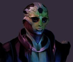 Thane Krios - Day 3 by weemiji