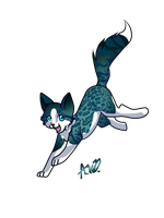 Pose in leap mode Dubhdarra by MidnightsBloom