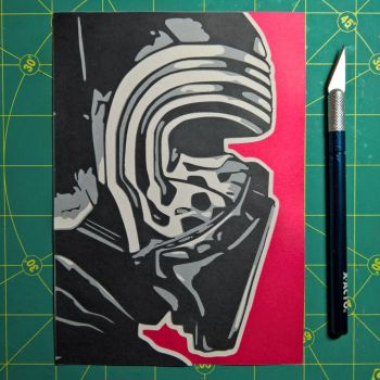 Kylo Ren by Papergizmo