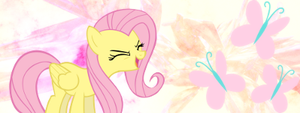 Fluttershy Signature by darthxanatos501