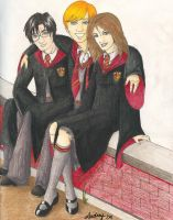 Harry and pals by Audriana