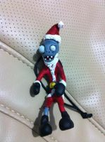 Santa Zombie - Plants vs zombies ornament by Lunatica-Reiko