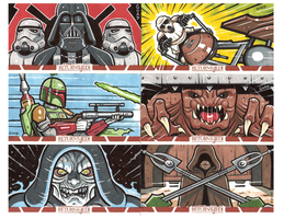 Star Wars Return of the Jedi sketchcards 2014 2 by JasonGoad