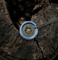 Gears and Numbers Pendant by KubusRubus