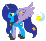 OC Ref: Princess Quilted Night the Plush Alicorn by SilverRomance
