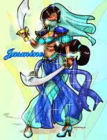 Warrior Princess Jasmine by andre4boys