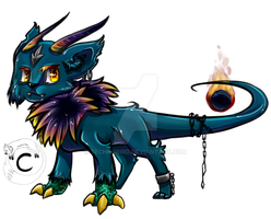 Guardian: Frozen Demon Flame-beast form by TechnoBird