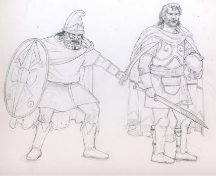 Thracian warriors by deWitteillustration