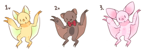 Slothbat Minis Batch 2 (CLOSED) by Kiwi-adopts