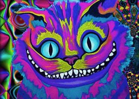 Psychedelic Cheshire by kaiafa