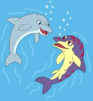 Dolphin and Ophthalmosaurus by MCsaurus