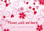 Flowers,swirls and hearts by brushesstock