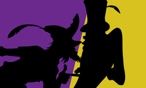 Trickster Silhouette by CancerSyndrome