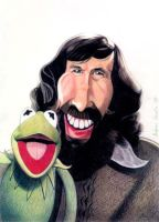 Jim Henson and Kermit by Quasi77