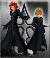 Axel and Roxas by silentdarkangel