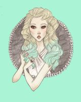 mint ombre by mox-ie