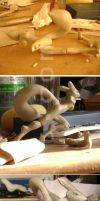 Escultura de Renamon -WIP 2- by Fox777
