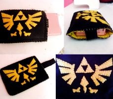 LoZ Triforce 3DS Cover by lkcrafts