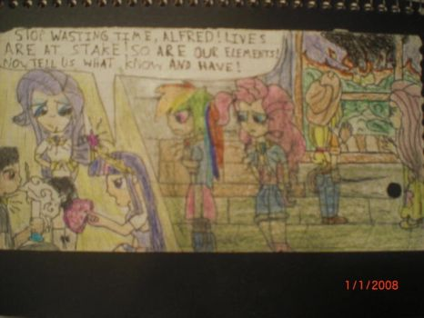 Mane 6 at Alf's by justaviewer94