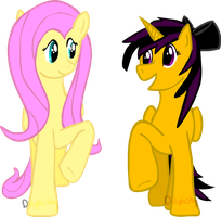 Misery and Fluttershy by Dolphishy