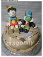 Pinocchio Cake by dragonflydoces