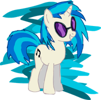 DJ Pon-3 Sketch by Pris-The-Brony