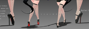 Ballet Pointe Heels MMD by chatterHEAD