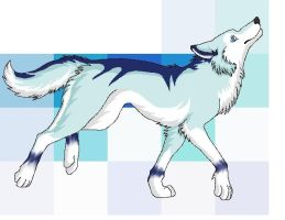Wolf drawing 1 year ago in animals