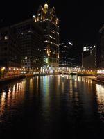 Downtown Milwaukee Nights by NeverEndingAdventres