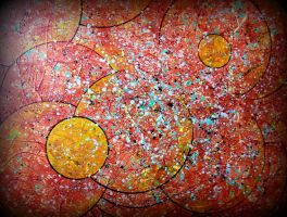 red pollock kosmos circle by santosam81
