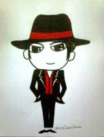 MJ YOU ROCK MY WORLD CARICATURE by MichiruPLANET