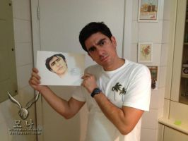 Marcelo Adnet with my drawing by EllenMarieCurie