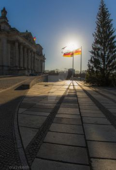The Reichstag Building Berlin Germany by crazykeith2