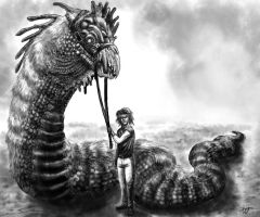 Basilisk and Tamer by Ammonite-Amy