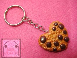 Heart Cookie Keychain by efeeha