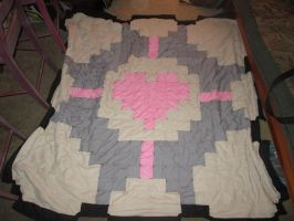 companion cube blanket by purpledragonpet