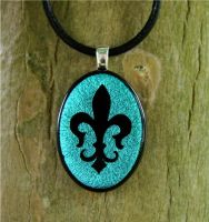 Royal Fleur De Lis Fused Glass by FusedElegance