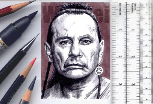 Last of the Mohicans sketchcard by whu-wei