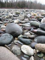 river rocks 01 by Muffinza-Stock