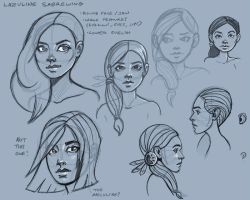 Sketchbook 2013 - faces013 by Pseudolonewolf
