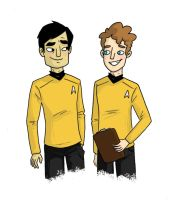 Sulu and Chekov by TRAVALE