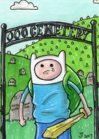 Finn at the OOO Cemetery by johnnyism