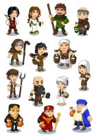 Robin Hood Adventures: characters by samuelcroes