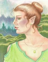 Green Elf by The-Tinidril