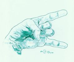 Rock on hand sign II by soulblade35