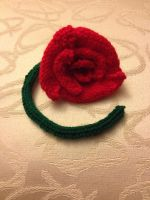 Knitted Stem Rose by Fruity26