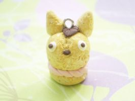 Totoro Cream Puff Clay Charm by ImSugarRibbon